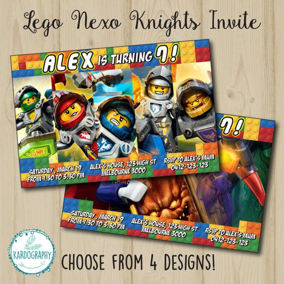 17 best images about Nexo Knights Birthday – Knight Birthday Party Invitations