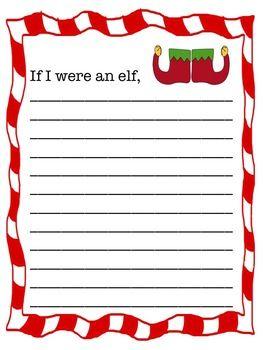 memoirs of an elf writing activity for preschoolers