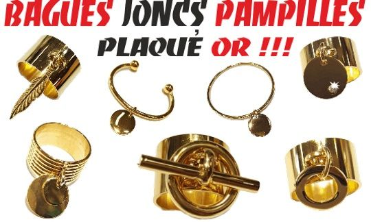 NOUVEAUTÉS : Bagues, Joncs Pampilles en Plaqué Or !!! Rdv sur: http://www.grossiste-toulouse.com/fr/696-collection-pampille-plaque-or-