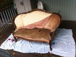 How To Reupholster a Vintage Settee | My Polished Imperfections
