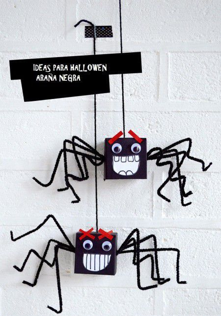 Ideas para halloween araña negra
