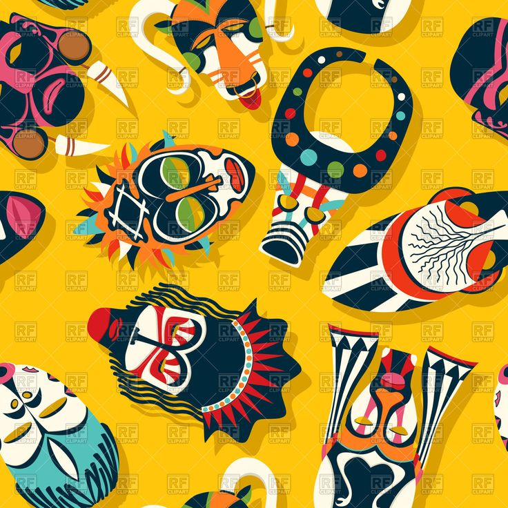 Royalty Free Vector image of Tribal African mask ethnic background #171590 includes graphic collections of african, mask and Backgrounds, Textures, Abstract. You can download this image clipart in EPS and JPG format. #rfclipart.com #lirch #vectorart #vectorclipart #vectorstock #graphicdesign #diseñográfico #graphisme #grafikdesign #графическийдизайн