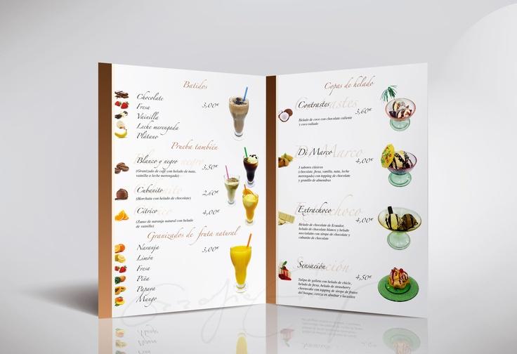 Menu Design for Ice, Restaurante DiMarco Binefar made by GraficGrup