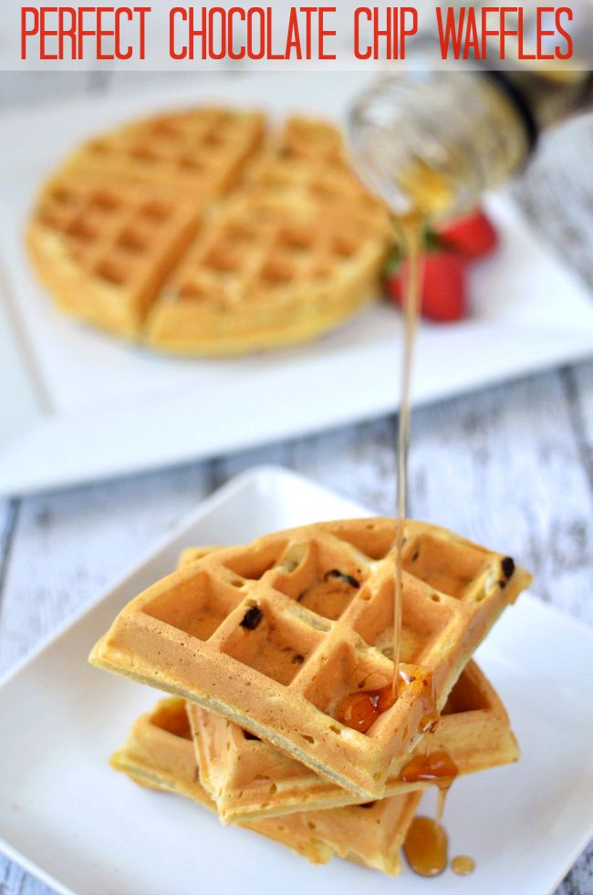 PERFECT Chocolate Chip Waffles Recipe — I've tried dozens of waffle recipes, and these are, hands-down, the best I've ever made!!