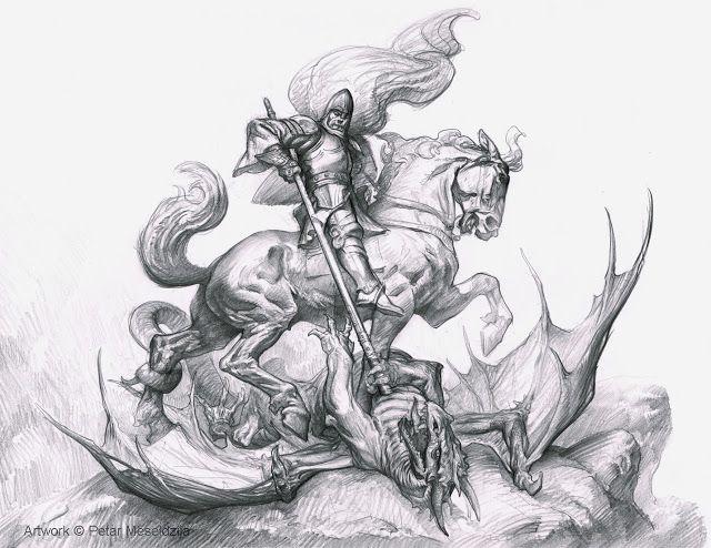 PETAR MESELDŽIJA ART: St. George drawing