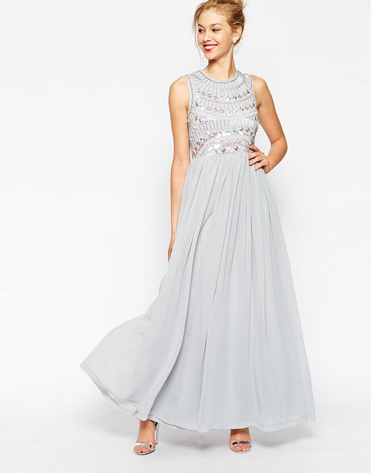 ASOS Embellished Armour Maxi Dress