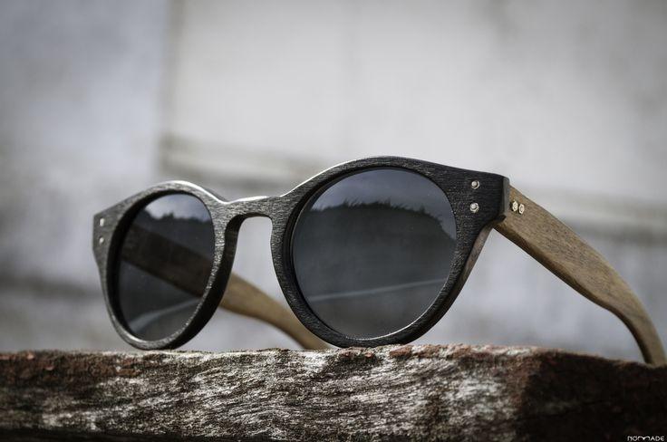 Anteojo de madera y acetato, lentes polarizados | Nomade