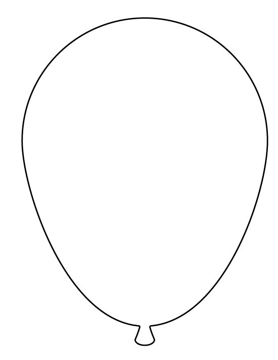 Large balloon pattern. Use the printable pattern for crafts, creating stencils, scrapbooking, and more. Free PDF template to download and print at http://patternuniverse.com/download/large-balloon-pattern/.