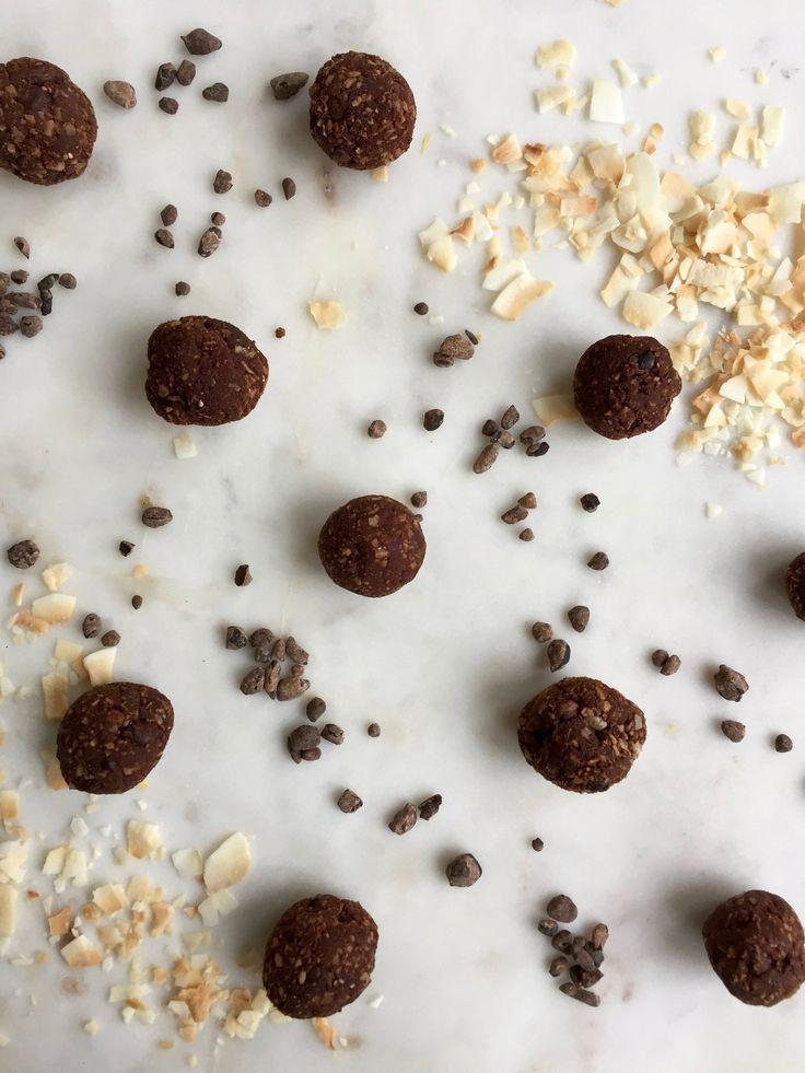 cacao coconut energy bites