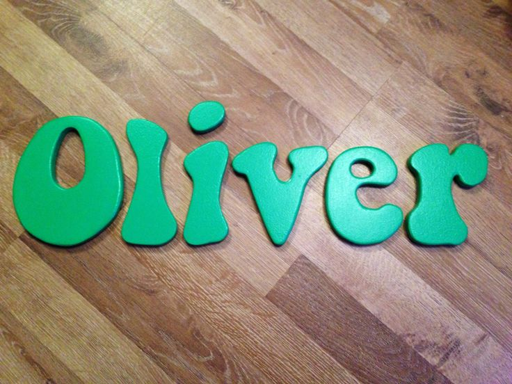 Oliver In Our Bubble Font Personalised Wooden Letters