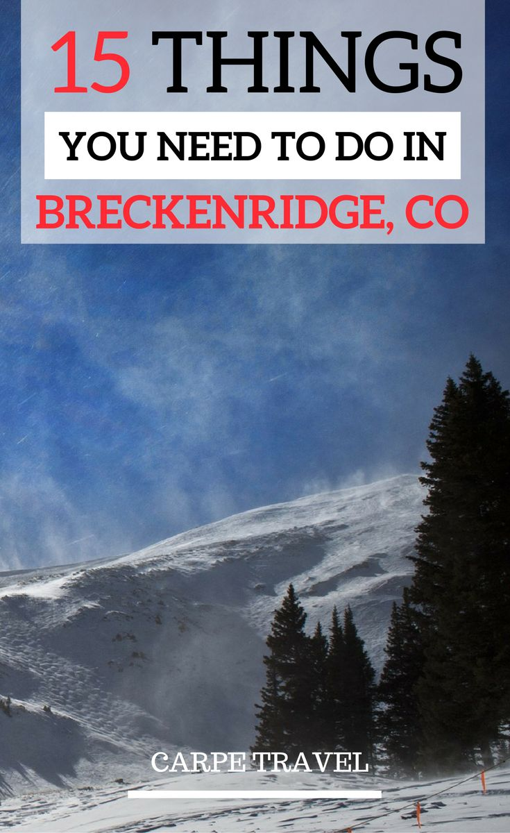 A travel guide to Breckenridge: Colorado off the beaten path at its best! Here are the 15 things you need to do with your kids in Breckenridge.| Breckenridge Colorado summer | Breckenridge Colorado winter | Colorado travel tips - via @elainschoch (Best Travel Things To Do In)