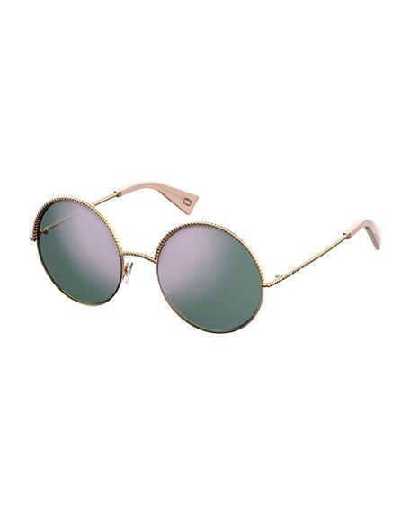 MARC JACOBS Round Metal Twist Sunglasses. #marcjacobs #
