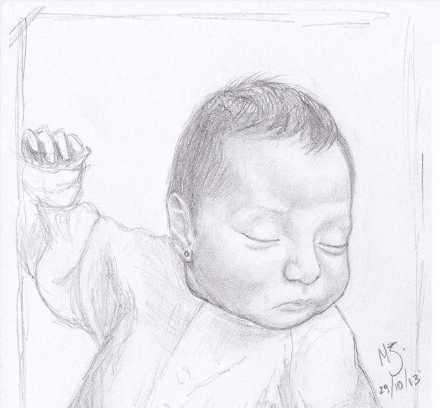 """primera forma"" grafito sobre hoja de oficio. Retrato, creación propia. MZ."