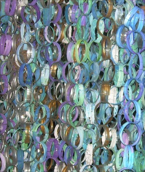 #Curtain, #DIY, #Garland, #PlasticBottle, #Upcycled