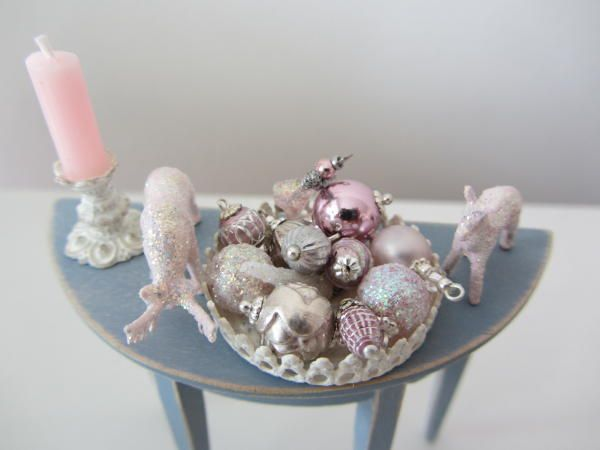 idea:  beads and findings can be painted for ornament colors, tiny animals painted and glittered