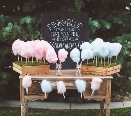 COTTON CANDY GENDER REVEAL... SOOOOO MUCH CUTER THAN CAKE AND WHO DOESN'T LOVE SUGAR FLOSS???!!!