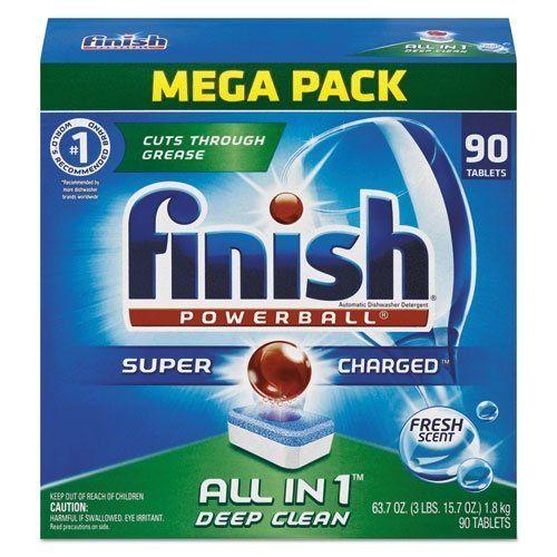 nice Finish Powerball Tabs Dishwasher Detergent Tablets, Fresh Scent, 90 Count (Packaging may vary)