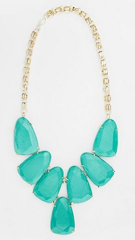 Aqua statement necklace.