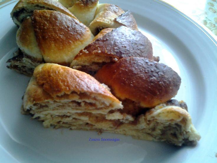 Ostoros kalács (kakaós fonott kalács) | Zsuzsi finomságai
