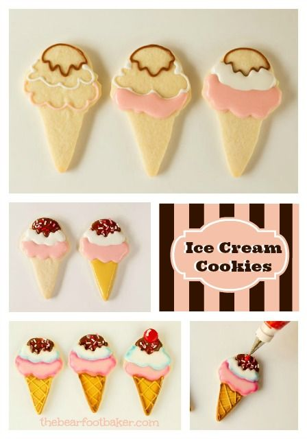 Awesome Ice Cream Cookies by @Lisa Phillips-Barton Snyder via #TheCookieCutterCoompany www.cookiecuttercompany.com