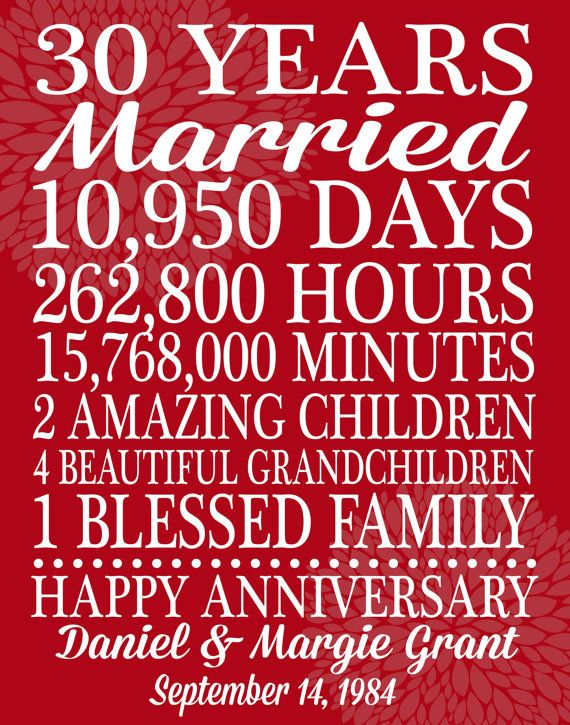 29th Wedding Anniversary Gift Ideas For Parents : ... Gift, 50Th Wedding Anniversary Gift, 30Th Wedding Anniversary Gift