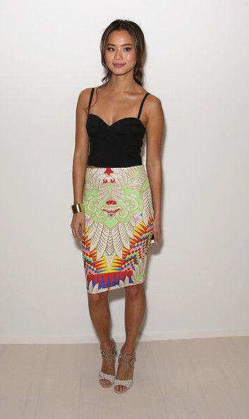 Jamie Chung - Mara Hoffman - Front Row - Mercedes-Benz Fashion Week Fall 2014
