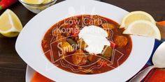 Soljanka - Deftig, würzig und Low Carb. Die Soljanka ist eine würzige säuerlich-scharfe Suppe mit verschiedene Fleischsorten - eine herzhafte Suppe für Fleischesser :)