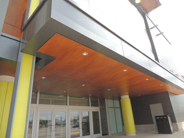 Product: Parklex wood veneer facade Colour: Copper 10mm