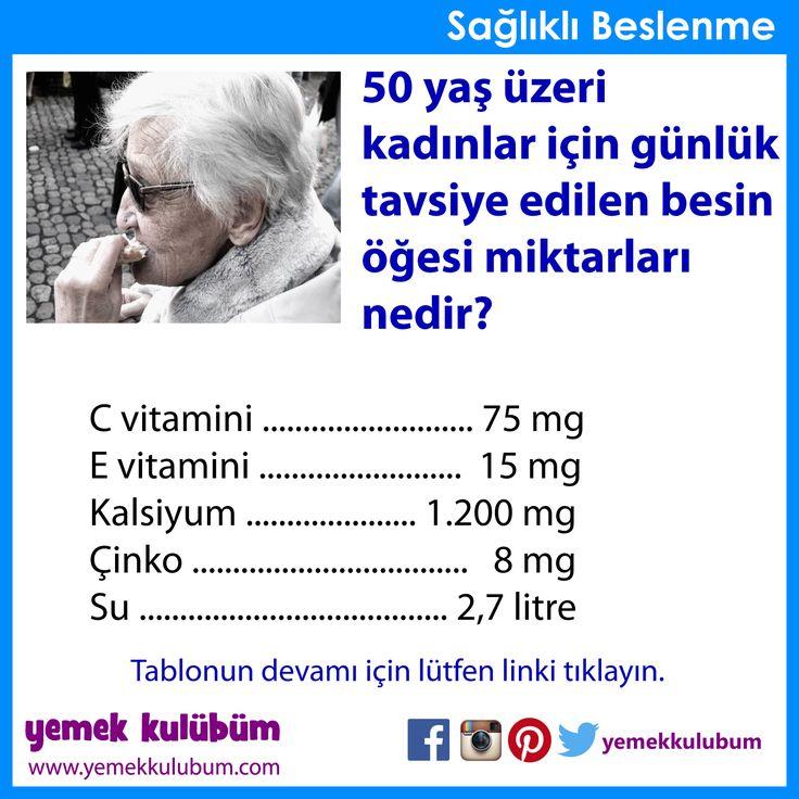 BESLENME : 50 yaş üzeri kadınlar için beslenme önerileri   http://yemekkulubum.com/icerik_sayfa/yaslilik-donemi-icin-beslenme-onerileri