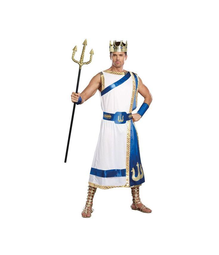 Greek Sea God Poseidon Mens Costume
