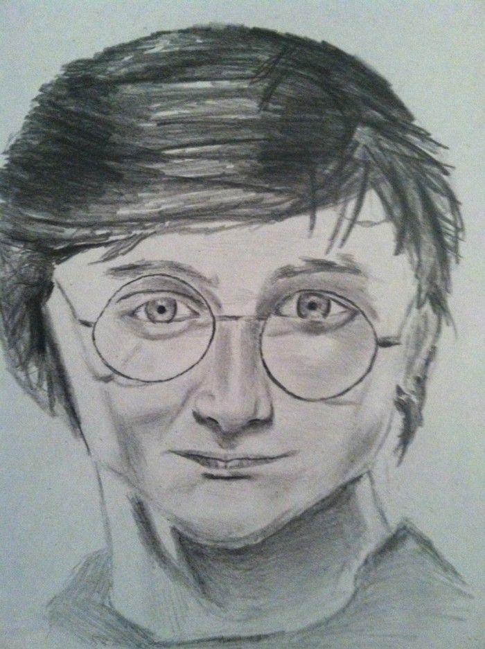 Disegni A Matita Facili Harry Potter Con Capelli Corti Viso Con