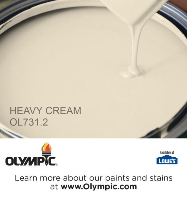 HEAVY CREAM OL731.2 is a part of the neutrals collection by Olympic® Paint.