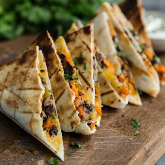 Grilled Black Bean and Sweet Potato Quesadillas | Frontier Co-op