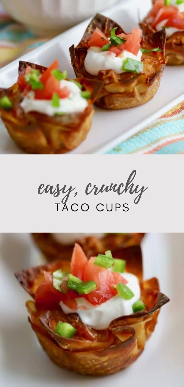 Easy Crunchy Taco Cups   – Grits and Pinecones – My Best Recipes from the Blog!