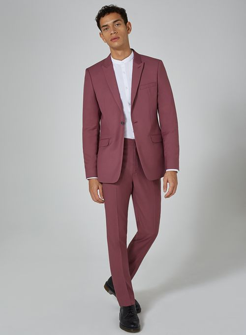 eca8bfabe2d1 Mauve Skinny Fit Suit - Suits - Clothing - TOPMAN USA | Suits in ...