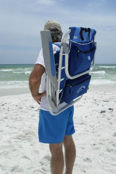 Anyone can carry this lightweight backpack beach chair that keeps hands free for carrying beach bags & 27 best Aluminum Beach Chairs - Reclining Backpack Lightweight ...