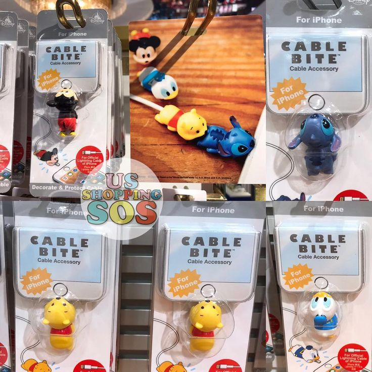 The New & Exclusive Iphone 📱 Cable bites are released at Japan🇯🇵 Disney Store Today