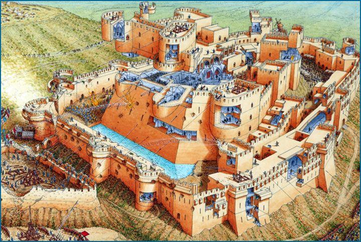 Stephen Biesty - Illustrator - Cutaway Panoramas - Krak des Chevalier