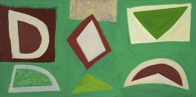 "John McLean, ""Knowe"", 2011, acrylic on canvas, © The artist, courtesy of The Cross Street Gallery, London"