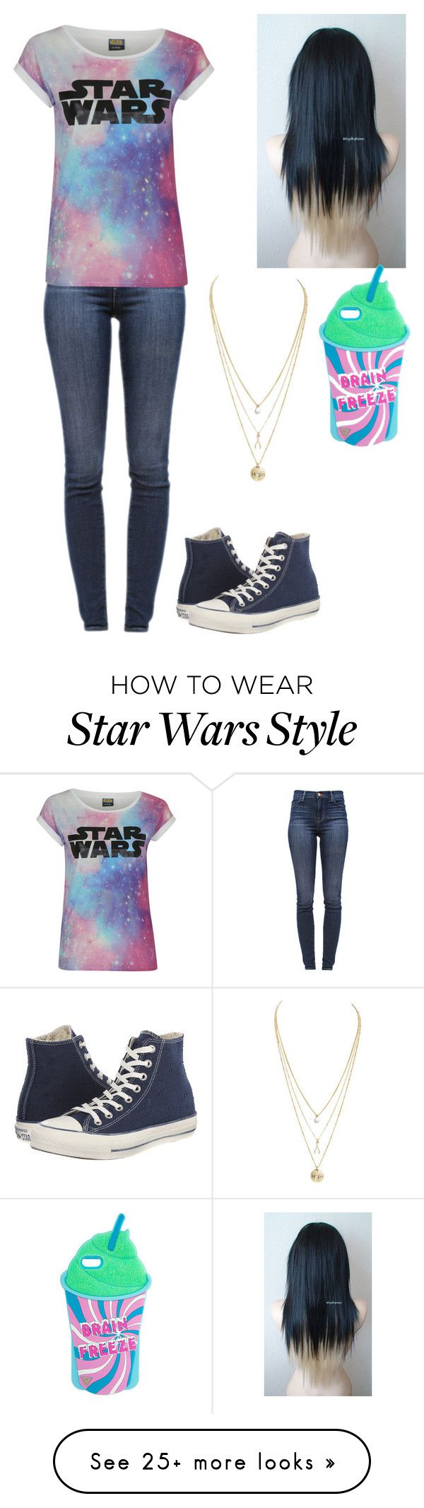 """Untitled #269"" by cupcakes3434 on Polyvore featuring J Brand and Converse"
