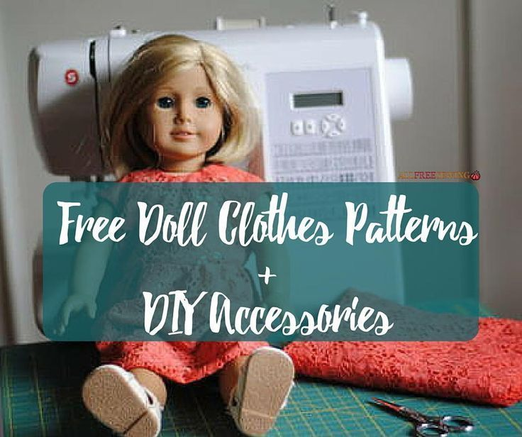 35 Free Doll Clothes Patterns and DIY Accessories. Perfect for American Girl #dolls!
