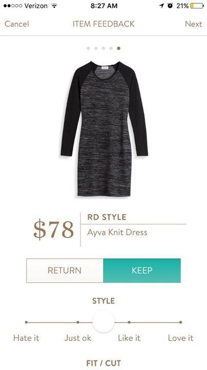 RD Style Ayva Knit Dress - black gray - Stitch Fix 2016. https://www.stitchfix.com/referral/8592117