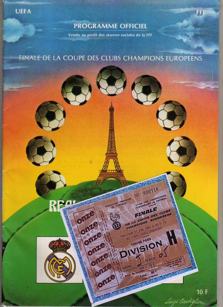 1981 European Cup Final Liverpool v Real Madrid