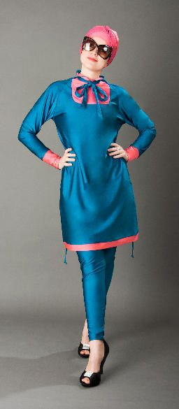 TURQUOISE - Teal Make a splash with this debut collection of Avant-garde swimwear Teal and rose color. Select Size: XS-S - M - L- XL €125.00 ##paris #modestwear #longsleevesdress #muslim #modestfashion #hijabswimsuit #paris #fashionhijabi #madammebk #madeinfrance #fajxv #hijabfashion #chichijab #burkini #burqini