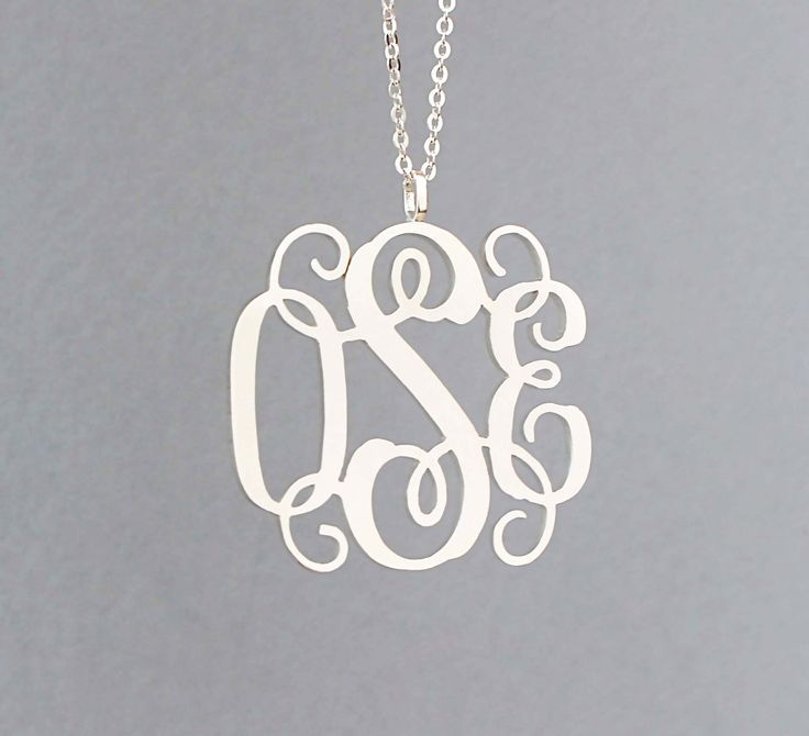 20% OFF** Handcrafted Monogram Necklace - Name Necklace - Unique Gifts - Vertical Necklace - Sterling Silver