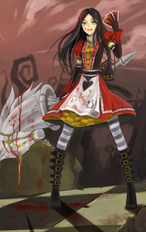 Asahina mikuru blush chinese clothes chinese dress game cg - Alice In Wonderland American Mcgee S Alice