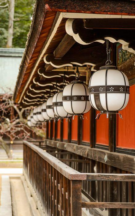 desktop background image of a row of lanterns adorning a wall at the Kitano Tenmangu Shrine (北野天満宮), Kyoto Japan -- Kitano Tenman-gu Shrine ...