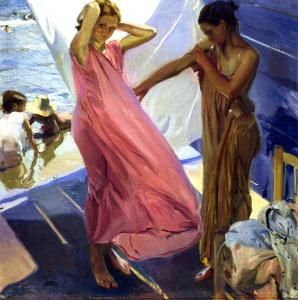 Sorolla  I love his work.  I have visited his house which is now the  Museo Sorolla (Spain)