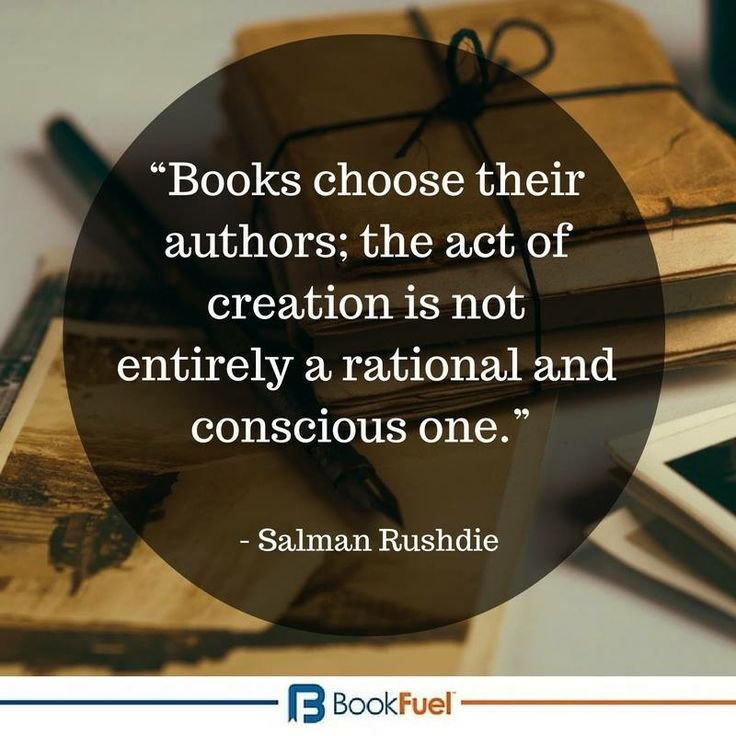 """Books choose their authors; the act of creation is not entirely a rational and…"