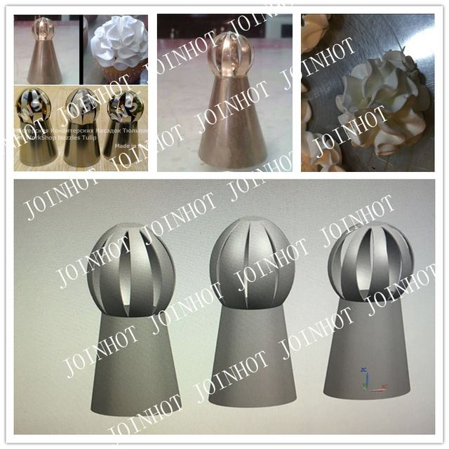 New Design ball tips sphere nozzles flower icing piping nozzles set the shape of sphere nozzle new 3pcs/set